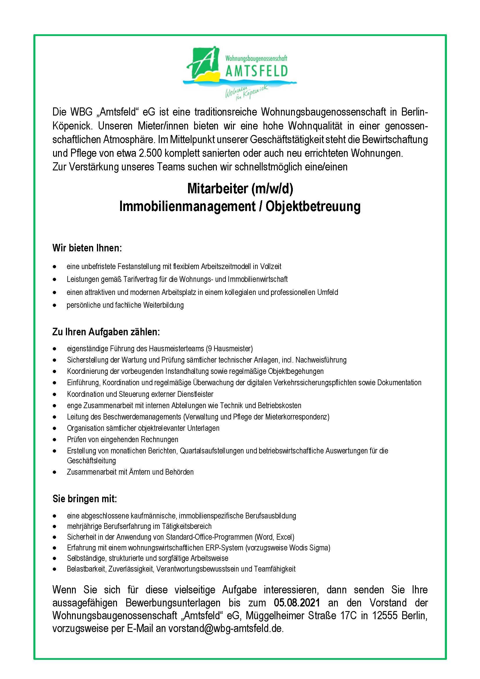 20210802_Stellenausschreibung_Bestandsmanagement